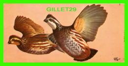 FICHES ILLUSTRÉES OISEAUX - BIRDS - BOB-WHITE QUAIL - No 46 - - Animaux