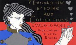 77 VAUX-LE-PENIL (près MELUN) - 6è Foire Aux Collections 1986 - Dessin Patrick HAMM (autographe) - SUPERBE - France