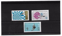 EDY 745 - DDR GERMANIA ORIENTALE 1966  , Tre Valori  Nuovi  *** - Paracadutismo