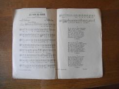 LE VIN DU RHIN CHANSON CREEE PAR MARIUS RICHARD PAROLES DE GEORGES BAILLET MUSIQUE DE R. GOUBLIER - Noten & Partituren