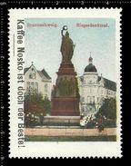 German Poster Stamps, Reklamemarke, Cinderellas, City View, Stadtblick, Braunschweig, Victory Monument, Siegesdenkmal - Monumenti