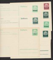 """""""Hindenburg"""" Medaillion, 7 Versch. Aufdruckkarten, * - Besetzungen 1938-45"""