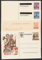 Luxemburg, 4 Versch. Aufdruckkarten, * - Besetzungen 1938-45