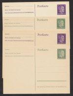 """Ostland/Ukraine, 4 Versch. Aufdruckkarten """"Hitler"""", * - Besetzungen 1938-45"""