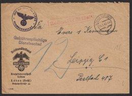 """Propaganda, """"Reichsnährstand, Löbau, 1942, Dienstbrief Mit Nachgebür - Briefe U. Dokumente"""