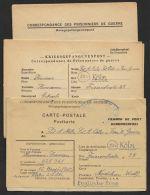 Kriegsgefangenenpost, Lager Lille, 3 Belege Aus Einer Korrespondez 1948, Alle Versch. Vordrucke Und Zensur - Französische Zone