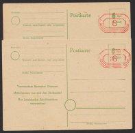 Lokal Nach 45, Bremen: Beide Varianten Der Überdruckkarte, PA18I+II, + - Bizone