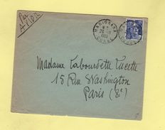 Marignana Corse - 26-10-1953 - Marianne De Gandon - Par Avion - 1921-1960: Moderne