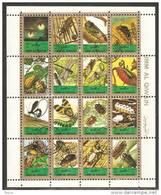 Umm Al-Qiwain 1972 Mi# 1354-1369 Used - Mini Sheet Of 16 - Insects - Umm Al-Qiwain