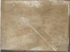 80 CANTIGNY 1914-18 RARE PHOTO ORIGINALE DU VILLAGE BOMBARDE CLICHE DE L'ESCADRILLE SPA 42  Prise à 500 M 28-5-1918 - Guerre 1914-18