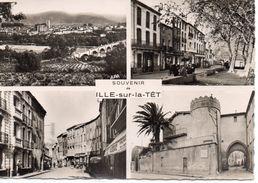 Ille-sur-la-Têt Belle Multi-vues Animée Du Village - Autres Communes