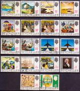 SEYCHELLES 1969 SG #262-79 Compl.set Used CV £48 - Seychellen (...-1976)