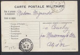 FR -1914 -Carte Postale Militaire En F.M. Trèsor Et Postes, Secteur Postal 52, Pour Couchey Par Marsannay La Côte - B/TB - Postmark Collection (Covers)