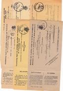 Dienstbericht Dat Er Een Stortingskaart Is Toegekomen. 6 Verschillende Met Poststempel MENEN. - Announcements