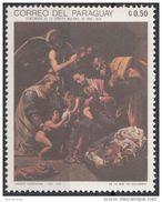 "1215 Paraguay 1969 Natale Christmas "" Sacra Famiglia "" Quadro Dipinto Da Orazio Borgianni Nuovo MNH Painting Tableau - Sonstige"