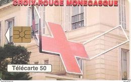 CARTE-PUBLIC-MONACO-50U-MF48-GEM2-04/98-CROIX ROUGE-Série N° B83433001-UTILISE-BE - Monaco