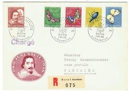 Suisse // Schweiz // Switzerland //  Pro-Juventute  // 1956 Série Complète Sur Lettre 1er Jour - Pro Juventute