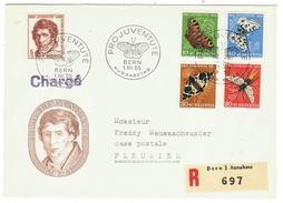 Suisse // Schweiz // Switzerland //  Pro-Juventute  // 1955 Série Complète Sur Lettre 1er Jour - Lettres & Documents