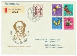 Suisse // Schweiz // Switzerland //  Pro-Juventute  // 1954 Série Complète Sur Lettre 1er Jour - Pro Juventute