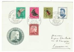 Suisse // Schweiz // Switzerland //  Pro-Juventute  // 1953 Série Complète Sur Lettre 1er Jour - Lettres & Documents