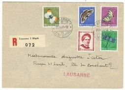 Suisse // Schweiz // Switzerland //  Pro-Juventute  // 1951 Série Complète Sur Lettre - Lettres & Documents