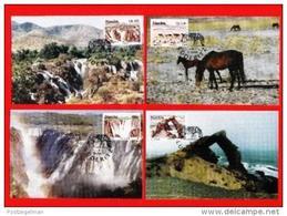 NAMIBIA, 1998, Mint Maxi Cards, Sa Nr. 140-143, Tourism F3844 - Namibia (1990- ...)