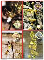 NAMIBIA, 1999, Mint Maxi Cards, Sa Nr. 308-311, Orchids Of Namibia, F3837 - Namibië (1990- ...)