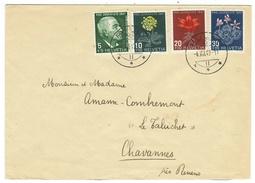 Suisse // Schweiz // Switzerland //  Pro-Juventute  // 1947 Série Complète Sur Lettre Pour Chavannes - Lettres & Documents