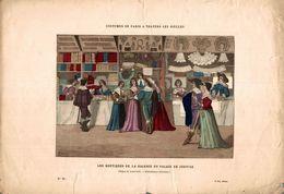 COSTUMES DE PARIS A TRAVERS LES SIECLES LES BOUTIQUES DE LA GALERIE DU PALAIS DE JUSTICE - Prints & Engravings
