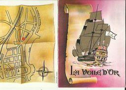 Carte De Visite Du  Restaurant  ( LA VOILE D'OR ) A Saint-Raphael 83    Voir Scan Details - Cartoncini Da Visita