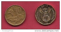 SOUTH AFRICA, 2010, 3 Off Nicely Used Coins 10 Cent C2124 - South Africa