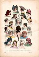 MODES DE COIFFURES DE FEMMES AUX XVe ET XVIe SIECLES - Prints & Engravings