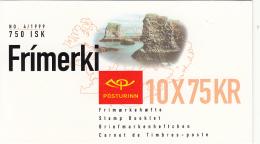 Iceland 1999 Booklet Of 10 Scott #884a 75k Vid Arnarstapa EUROPA - Carnets