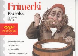 Iceland 1999 Booklet Of 10 Scott #896k Christmas Elves - Carnets
