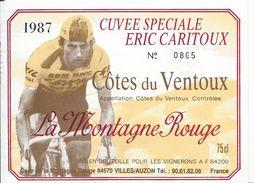 Etiquette De Vin  De Eric Caritoux - Cycling
