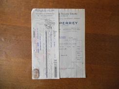 PANTIN  M. DUPERREY MANUFACTURE DE TOILES EMERI 2 RUE MEISSONIER-18 RUE MEHUL FACTURE ET TRAITE DU 10 MARS 1928 - France