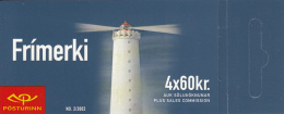 Iceland 2002 Booklet Of 4 Scott #961a 60k Grottuviti - Lighthouses - Carnets