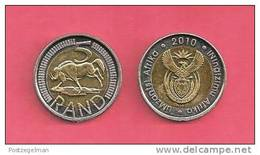 SOUTH AFRICA  2010 Nicely Used 5 Rand Coin Nr. 166C - South Africa