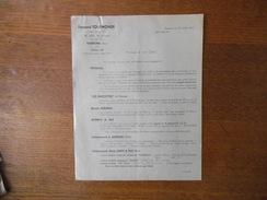 SOISSONS  FERNAND TOULMONDE AGENT COMMERCIAL 16 RUE DE CROISY COURRIER DU 23 JUILLET 1942 VENTES PROPOSEES - Frankreich