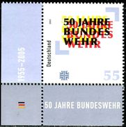 BRD - Michel 2497 ECKE LIU - ** Postfrisch (A) - 55C  50 Jahre Bundeswehr - Ungebraucht