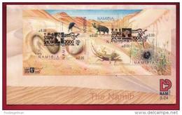 NAMIBIA, 2000, First Day Cover, Min Sheet, Namibian Dunes, Michel 3-24, F3931 - Namibië (1990- ...)
