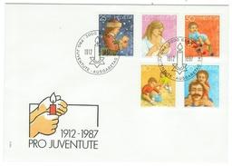 Suisse // Schweiz // Switzerland //  Pro-Juventute  // 1986 Série Complète Sur Lettre 1er Jour - Pro Juventute