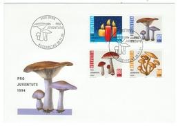 Suisse // Schweiz // Switzerland //  Pro-Juventute  // 1994 Série Complète Sur Lettre 1er Jour - Lettres & Documents