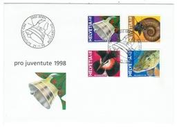 Suisse // Schweiz // Switzerland //  Pro-Juventute  // 1998 Série Complète Sur Lettre 1er Jour - Lettres & Documents