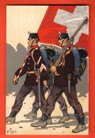 MIT-31 Litho Militaires Militär Grenzbesetzung 1914 Feldpostkarte Moos. Fretz Nicht Gelaufen - Sin Clasificación