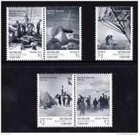 Australian Antarctic 2016 Hurley's Journey 1914-16 Set Of 5 MNH - Unused Stamps