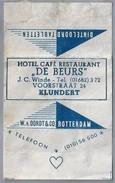 Suikerwikkel.- Embalage De Sucre. KLUNDERT. Hotel Café Restaurant - DE BEURS -.J.C. Winde. Voorstraat 24 - Suiker