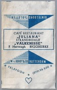 Suikerwikkel.- Embalage De Sucre. BIGGEKERKE. Café Restaurant - JULIANA - Strandbedrijf - VALKENISSE - F. Herwegh. - Suiker