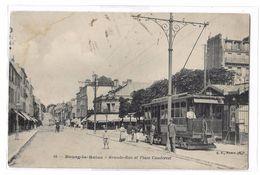 CPA 34 Bourg La Reine Grande Rue Et Place Condorcet Belle Animation Tramway - Bourg La Reine