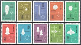 Poland 1963 - Conquest Of Space - Mi 1437-46 - MNH (**) - 1944-.... Republic